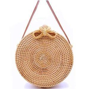 Handbags - Boho Rattan Handwoven Boho Straw Crossbody Handbag